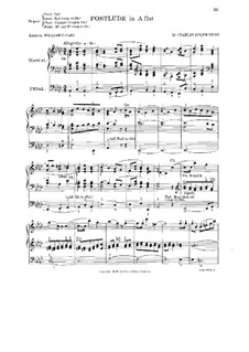 Postlude in A Flat Major: Postlude in A Flat Major by Charles Joseph Frost