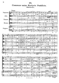 Commune unis Martyris Pontifucis. Veritas mea, K.157: Commune unis Martyris Pontifucis. Veritas mea by Johann Fux
