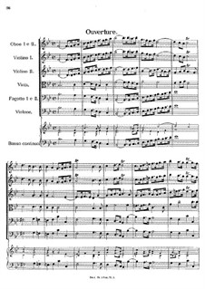 Overture in B Flat Major, E.110: Overture in B Flat Major by Johann Fux