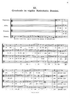 Graduale in vigilia Nativitatis Domini, K.142: Graduale in vigilia Nativitatis Domini by Johann Fux