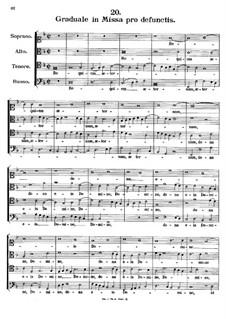 Graduale pro defunctis. Requiem aeternam, K.146: Graduale pro defunctis. Requiem aeternam by Johann Fux