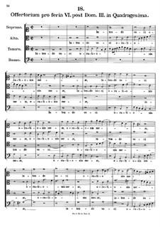 Offertorium pro feria VI. post Dominicam III. in Quadragesima. Intende voci orationis, K.156: Offertorium pro feria VI. post Dominicam III. in Quadragesima. Intende voci orationis by Johann Fux