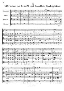 Offertorium pro feria IV. post Dominicam III. in Quadragesima, K.155: Offertorium pro feria IV. post Dominicam III. in Quadragesima by Johann Fux