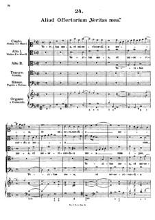 Veritas mea, L.32: Veritas mea by Johann Fux
