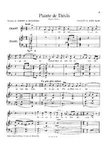Plainte de Thécla, Op.10: Plainte de Thécla by Vincent d' Indy