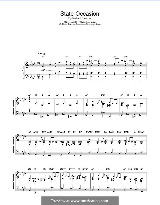 State Occasion: For organ by Robert Farnon