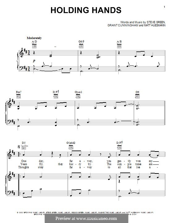 Holding Hands (Steve Green): For voice and piano (or guitar) by Grant Cunningham, Matt Huesmann