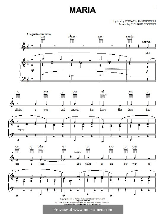 photo about Free Printable Sheet Music for the Sound of Music titled For voice and piano or guitar