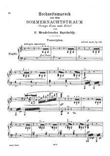 Wedding March: For piano (with fingering) by Felix Mendelssohn-Bartholdy