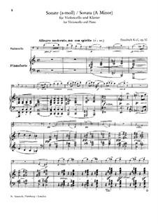 Sonata for Cello and Piano in A Minor, Op.52: Sonata for Cello and Piano in A Minor by Friedrich Kiel