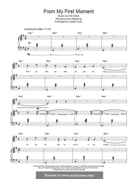 From My First Moment: From My First Moment by Erik Satie