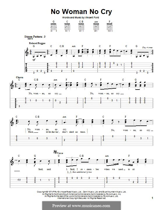 No Woman No Cry (Bob Marley): For guitar (very easy version) by Vincent Ford