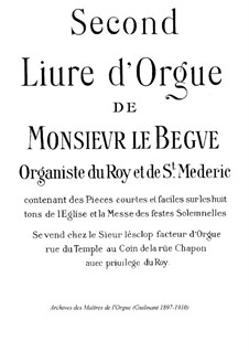 Pieces for Organ: Book II by Nicolas Lebègue
