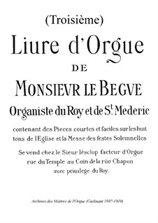 Pieces for Organ: Book III by Nicolas Lebègue