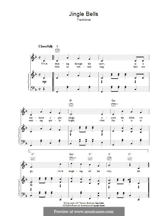 Jingle Bells (Printable scores): For voice and piano (or guitar) by James Lord Pierpont