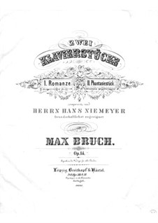 Two Pieces, Op.14: No.1 Romance by Max Bruch