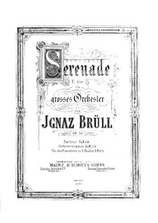 Serenade No.2 for Orchestra, Op.36: Version for piano four hands by Ignaz Brüll