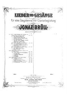 Lieder und Gesänge, Op.63: No.4 Herab von den Bergen by Ignaz Brüll