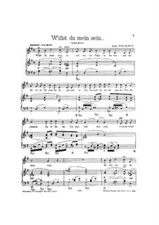 Four Songs, Op.68:  No.2 Willst du mein sein by Ignaz Brüll