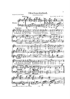 Four Song, Op.95: No.2 Wedding Song by Ignaz Brüll