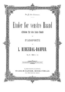 Etudes for Left Hand, Op.8: For piano by Ludvig Birkedal-Barfod