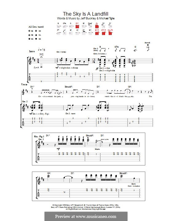 The Sky Is a Landfill: For guitar with tab by Michael Tighe