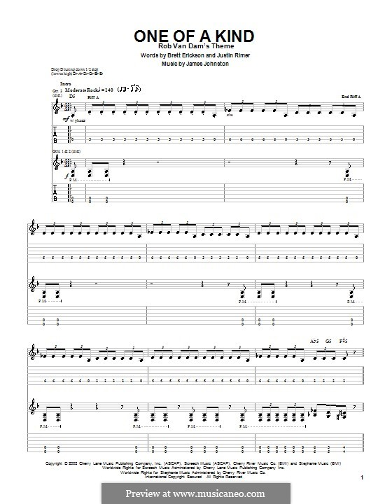 One of a Kind (Breaking Point): For guitar with tab by James D. Johnston, Brett Erickson, Justin Rimer