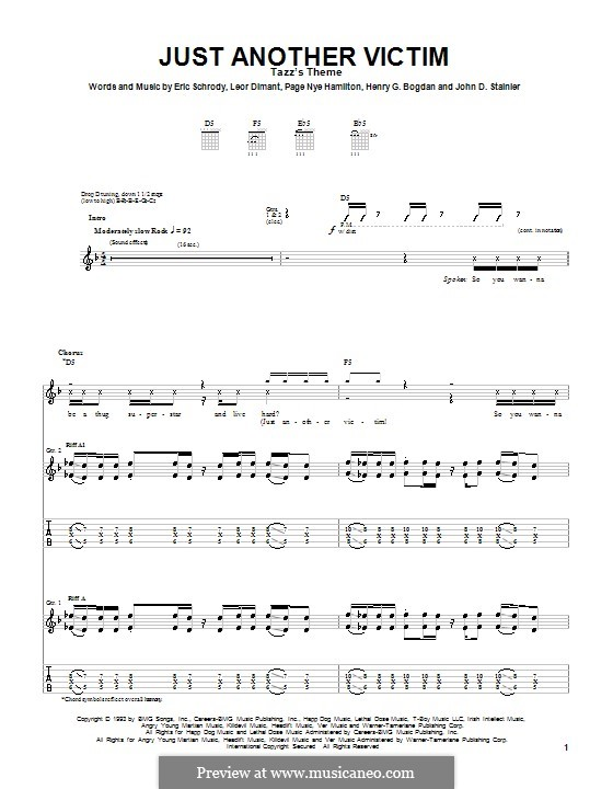 Just Another Victim (Cypress Hill): For guitar with tab by Erik Schrody, Leor Dimant, Page Nye Hamilton
