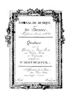 Piano Quartet No.1 in B Flat Major: Piano Quartet No.1 in B Flat Major by Franz Anton Hoffmeister