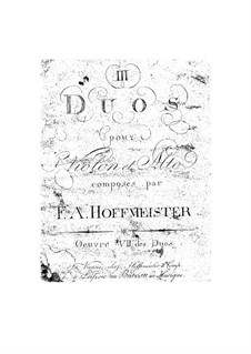 Three Duets for Violin and Viola, Op.7: Three Duets for Violin and Viola by Franz Anton Hoffmeister