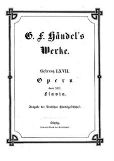 Flavio, King of the Lombards, HWV 16: Full score by Georg Friedrich Händel