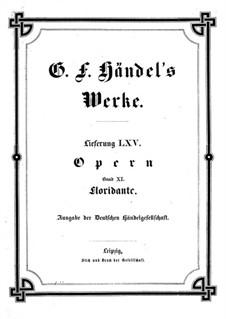 Floridante, HWV 14: Full score by Georg Friedrich Händel