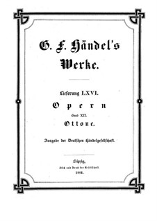 Otto, King of Germany, HWV 15: Full score by Georg Friedrich Händel