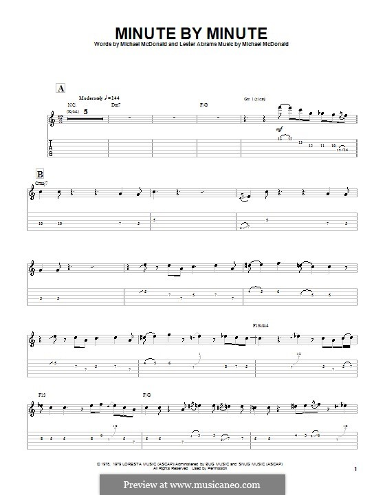 Minute By Minute: For guitar with tab (The Doobie Brothers) by Lester Abrams