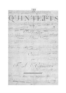Six Quintets for Flute and Strings: Six Quintets for Flute and Strings by Franz Anton Hoffmeister