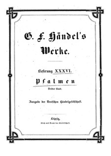Psalms: Book III by Georg Friedrich Händel