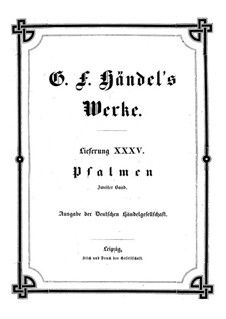 Psalms: Book II by Georg Friedrich Händel