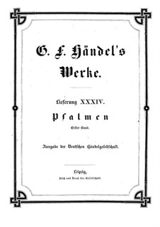 Psalms: Book I by Georg Friedrich Händel