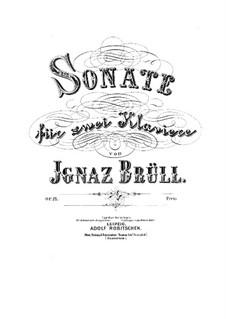 Sonata for Two Pianos, Op.21: Sonata for Two Pianos by Ignaz Brüll
