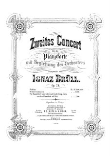 Piano Concerto No.2, Op.24: Version for two pianos by Ignaz Brüll