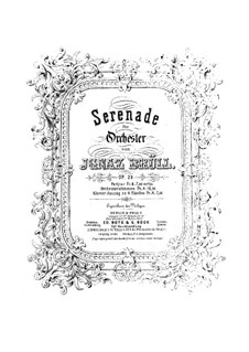 Serenade No.1 for Orchestra, Op.29: Version for piano four hands by Ignaz Brüll