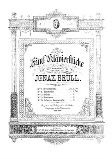 Five Piano Pieces, Op.57: Five Piano Pieces by Ignaz Brüll