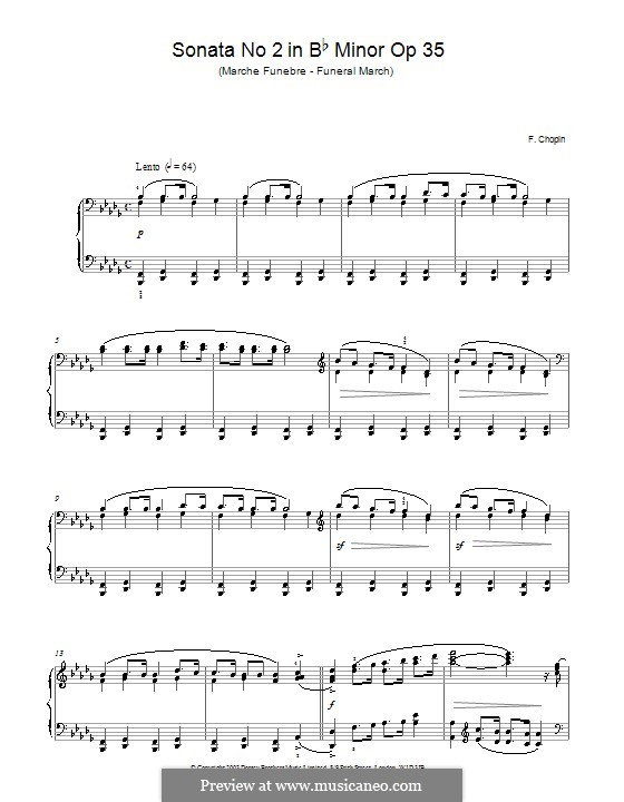 Sonata for Piano No.2 in B Flat Minor, Op.35: Movement III (with fingering) by Frédéric Chopin
