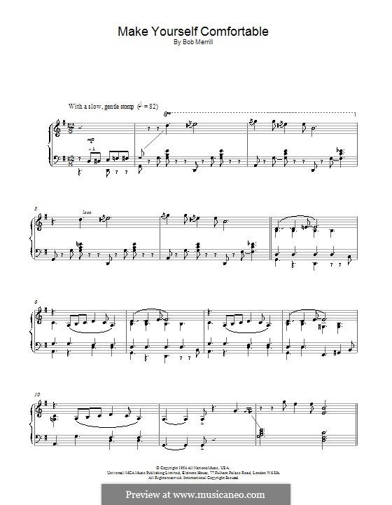 Make Yourself Comfortable: For piano by Bob Merrill
