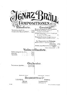 Three Pieces for Violin and Piano, Op.90: Three Pieces for Violin and Piano by Ignaz Brüll