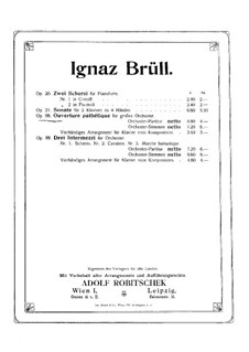 Overture Pathetic, Op.98: For piano four hands by Ignaz Brüll