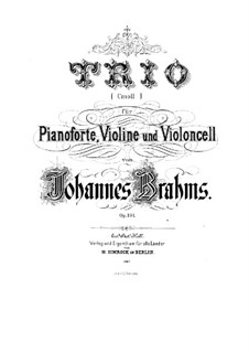 Piano Trio No.3 in C Minor, Op.101: Movement III (Fragment). Version for piano by Johannes Brahms
