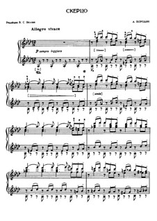 Scherzo in A Flat Major: For piano by Alexander Borodin