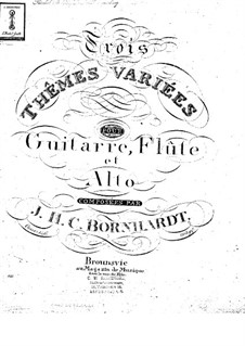 Three Themes and Variations, Op.146: Parts by Johann Heinrich Carl Bornhardt
