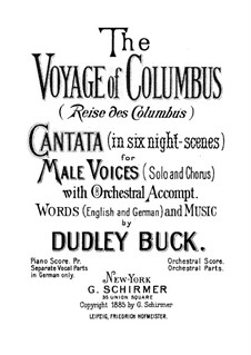 The Voyage of Columbus: The Voyage of Columbus by Dudley Buck
